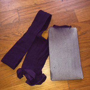 Never Worn Purple Fishnet Tights size Large